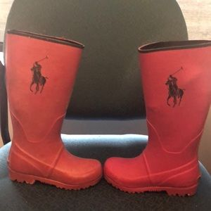 USA Polo long Rain Boot. Girls Size 13.
